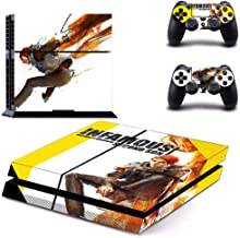 Playstation 4 Skin Set – Action game - HD Printing Vinyl Skin Cover Protective for PS4 Console and 2 PS4 Controller by Tullia