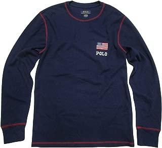 Men's Big & Tall Thermal Shirt Long Sleeve Sleepwear Pajama T-Shirt Flag