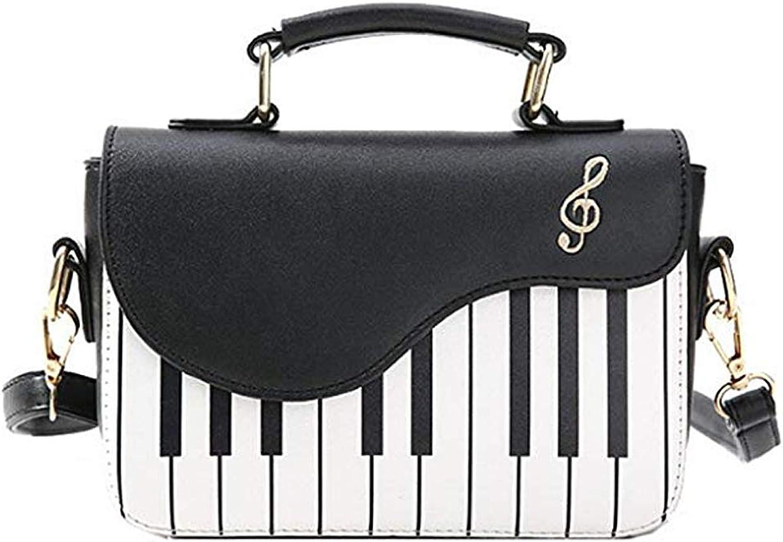 VegasKing Popular Pu Leather Top Handle Handbags for Women Piano Handbags