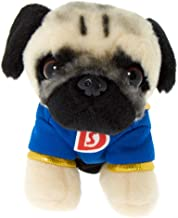 Claire's Doug The Pug Girl's Doug The Pug Small Super Hero Plush Toy - Cream