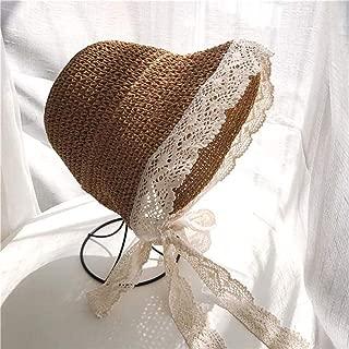 Asdfnfa Sun Hat Sun Hat Women's Straw Hat Summer UV Folding Beach Hat Big Hat Fishing Hat (Color : Brown)