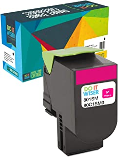 Do it Wiser Compatible Toner Cartridge Replacement for Lexmark CX310n CX310dn CX410de CX410dte CX410e CX510de CX510dthe CX510dhe - 80C1SM0 - Magenta