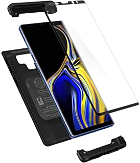Samsung Galaxy Note 9 Case, Spigen Thin Fit 360 Case with Exact Slim Full Protection and Tempered Glass Black