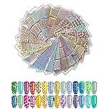 DEALIND 24 Sheets 72 Different Pattern Nail Designs Stencil Stickers Set
