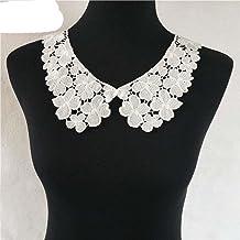 Style de mode Blanc Dentelle Tissu Collier BRICOLAGE Broderie Applique Décolleté Couture Vêtements Fournitures Accessoires...