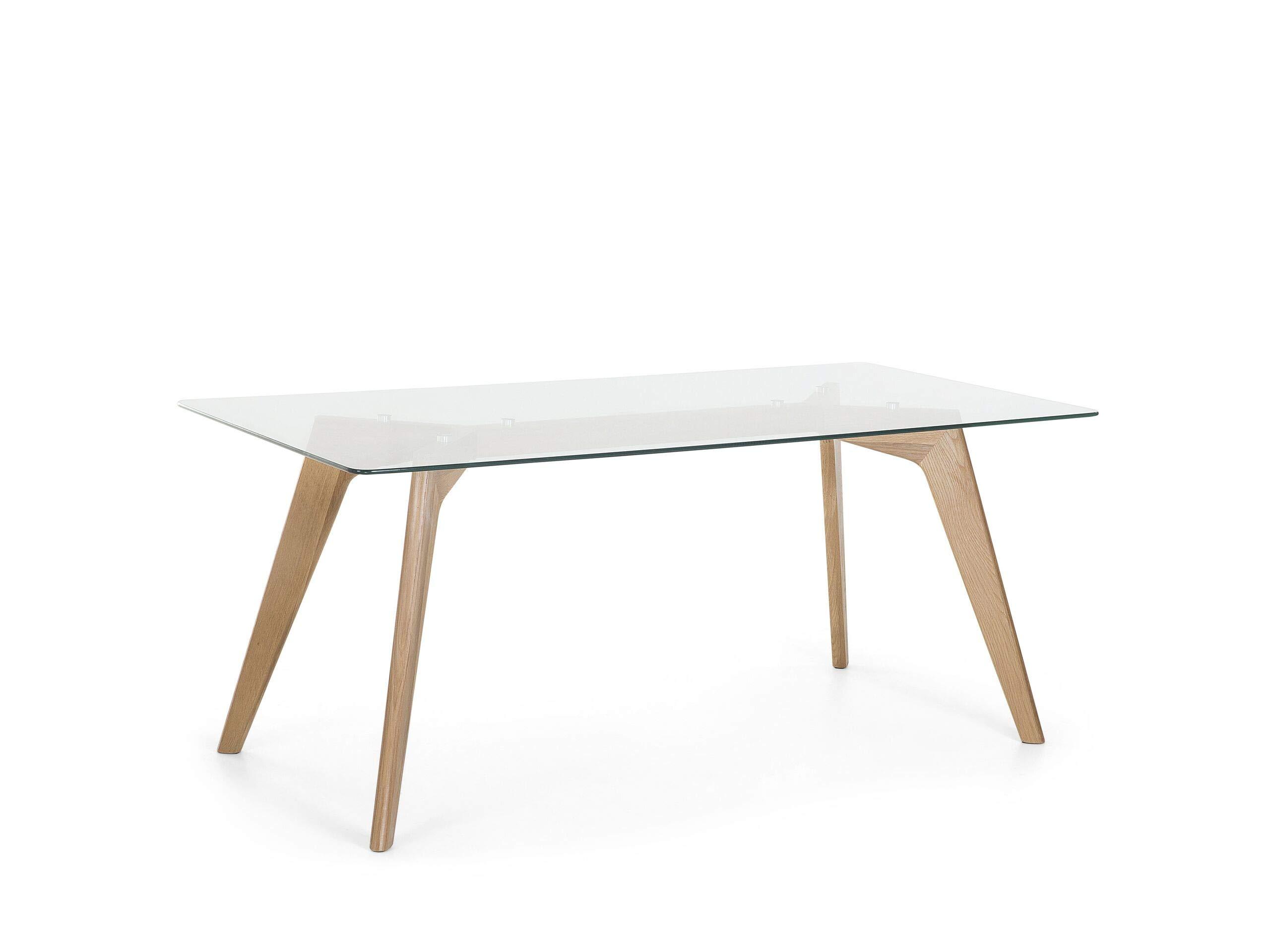 Fanilife 80/cm Salle /à Manger Table Ronde Nouveau Style Moderne r/étro Bureau avec Pieds en Bois de h/être Noir