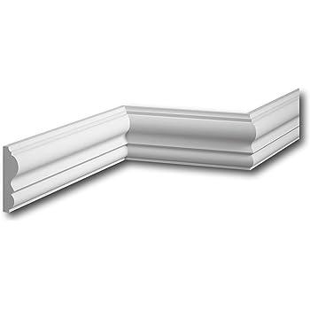 MARDOM DECOR Wandleiste I MDC236 I Friesleiste Stuckleiste Profilleiste zur universellen Gestaltung von W/änden T/äfelung und Rahmen I 240 cm x 12,7 cm x 1,6 cm