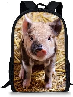 Animal Backpack Cute Pig Lightweight Durable Teen Girls Daypack School Bags