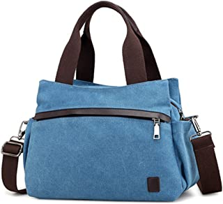 JOSEKO Damen Hobo Tasche, JOSEKO Frau Segeltuch Tote Handtaschen Jahrgang Schulter Crossbody Taschen Blau