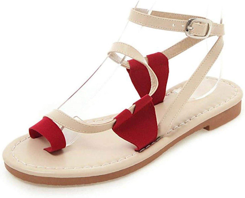 Jifnhtrs Gladiator Buckle Light Sandals Fashion Simple Bar Summer shoes Women Sexy Teens