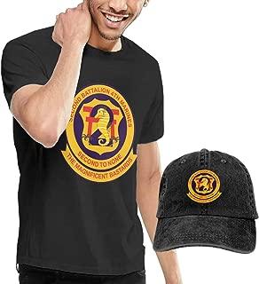 KFR&KNED 2nd Battalion, 4th Marines Mens Casual Short Sleeve T-Shirts and Washed Baseball Cap
