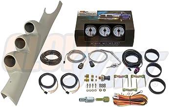 GlowShift Diesel Gauge Package for 2003-2009 Dodge Ram Cummins 2500 3500 - White 7 Color 60 PSI Boost, 1500 F Pyrometer EG...