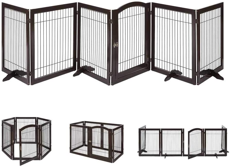 unipaws 5 ☆ popular Pet Cheap super special price Playpen with Wood and Free Wire Extra Wide 6 Panels