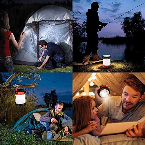 ZALA Camping Light, Hand-Crank Powered Camping Lantern, LED USB Rechargeable Tent Light, Hand Crank Emergency Light Indoor & Outdoor Flashlight for Home Camping Hiking Jogging