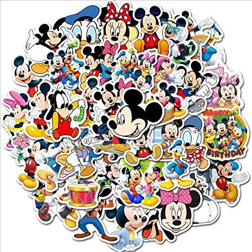 WUWEI Mickey Mouse Hey calcomanía portátil Guitarra Maleta Dibujos Animados Pegatina Impermeable 50 Piezas