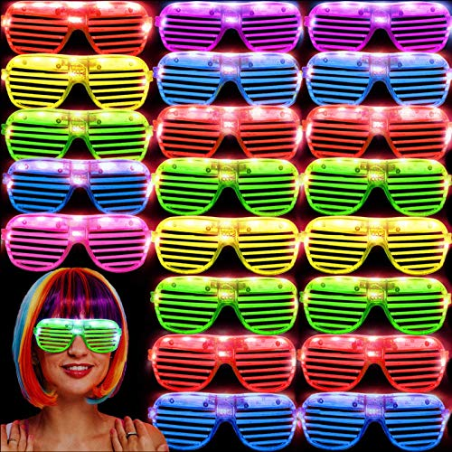 36 Pack LED Glasses Glow Sticks Glasses Halloween Party Supplies Glow In The Dark Party Favors Pack for Kids/Adults Rave Neon Flashing Sunglasses Light Up Toys Gifts for Birthday Carnival Decoration
