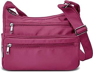 Crossbody Bag for Women RFID Waterproof Messenger Shoulder Bag Casual Nylon Purse Handbag Lightweight Travel Bag