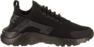 Womens Air Huarache Run Ultra Low Top, Black/Dark Grey, Size Toddler 5.5