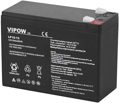 VIPOW 12V 10Ah batterie de gel