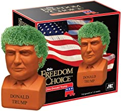 """Chia Donald Trump President with Seed Pack, (8"""" x 4.5"""" x 7.3"""") Decorative Pottery Planter, Easy to Do and Fun to Grow, Nov..."""