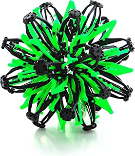 VIP Home Essentials Mini Sphere Toy Rings Stretch Expanding Ball Toys Funny for Kids - Green Black