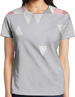 e0d58b80dd6b WuLion Geometric Triangles Polygonal Style Modern Symmetric Forms Art  Pattern Women s 3D Print T Shirt White