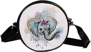 Coosun Umhängetasche mit Elefantenmotiv, rund, für Kinder und Damen