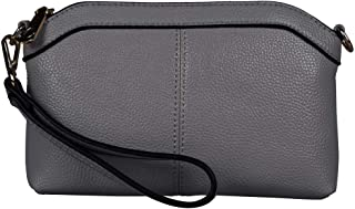 Diter Womens Leather Wristlet Zipper Clutch Wallet, Crossbody Bag Purse