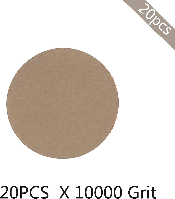 Dischi Abrasivi Foglio Di Carta Vetrata Con Gancio E Anello Per Levigatrice Orbitale Casuale 5 Pollici 125mm 20 Pezzi//Lotto Grana 60 Per Scegliere