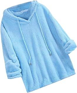 Macondoo Womens Pullover Winter Warm Sherpa Fleece Hooded Sweatshirt