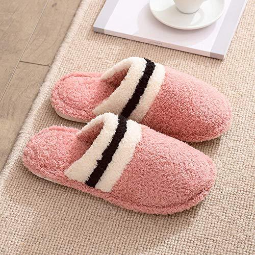 ypyrhh algodón con Memoria Zapatillas de Estar,Non-Slip Confinement Cotton Slippers, Home Warm Slippers-Skin Red_40-41