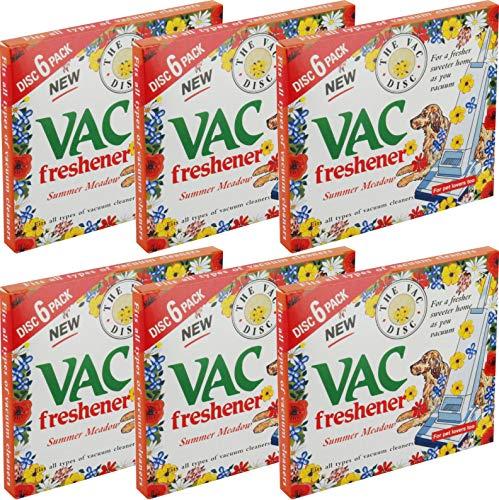 6 confezioni di Vac Freshener-Disco per 36-Deodoranti per aspirapolvere