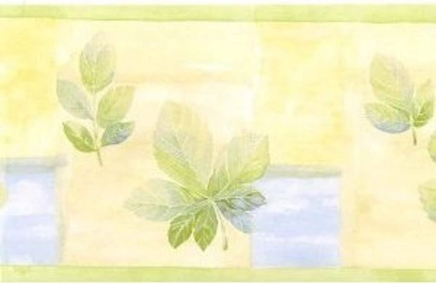 Home Trends Yellow Green Leaves Wall Norwall Ft Wholesale 15 Paper Border Baltimore Mall