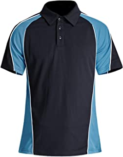 Men's Outdoor Quick Dry Short Sleeve Performance 3 Button Golf Polo Tee Shirt