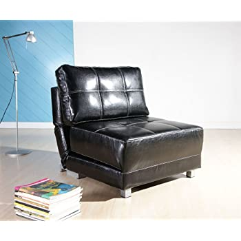 Gold Sparrow New York Convertible Chair-Bed, Black