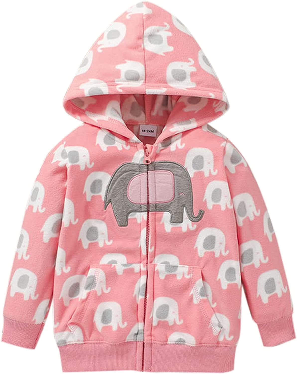 Jchen Girls Max 60% OFF Casual Zip Up Hoodie Sweat Hooded Fashionable Long Sleeve Jacket