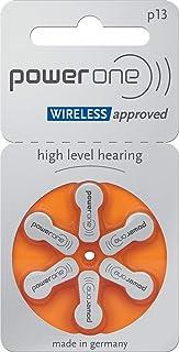 Powerone - Batterie per apparecchi acustici, tipo 10 13 312 675, 60 pezzi, colore: Arancione