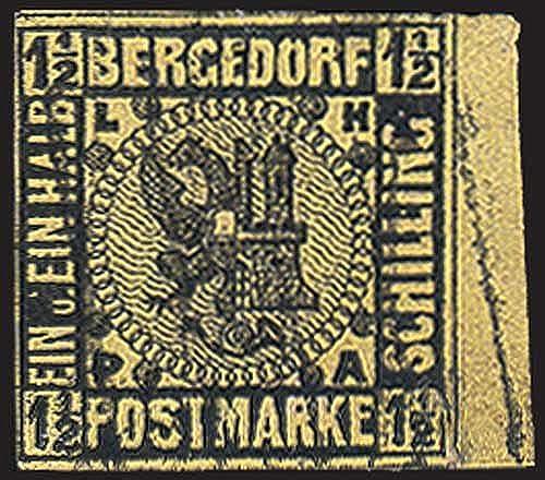Goldhahn Bergedorf Nr. 3 gestempelt Briefmarken für Sammler