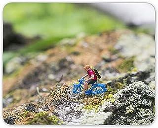 Mini Cyclist Mouse Mat Pad - Bike Cycling Funny Joke Men's Computer Gift #16406