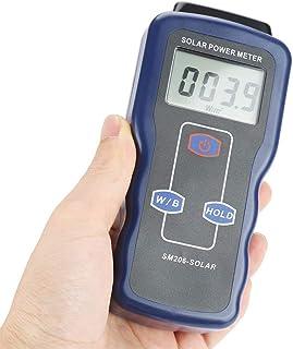 Medidor de energía solar digital sol luz radiación medición instrumento de prueba de alta precisión detector