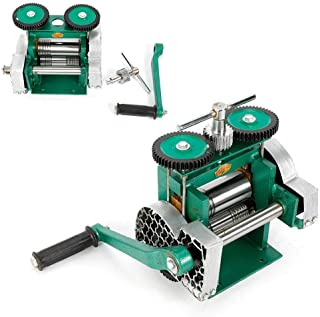 HYYKJ Manual Combination Rolling Mill Milling Machine Jewelry Press Tabletting Tool Roller for Jewelry DIY Making Design Repair 85mm / 3.3'' Width