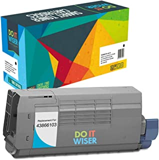Do it Wiser Compatible Toner Cartridge for Oki C711 C710 C710N C711DN C711N - 43866103 (Cyan 11,500 Pages)