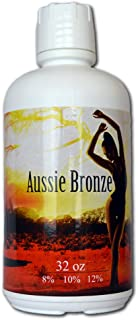 Aussie Bronze 8% Lite/Med DHA Sunless Airbrush Spray Tanning Solution 64oz (ships in 2 qts)