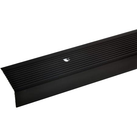Treppenwinkel 30 x 42 mm in 6 Farben Montageset selbstklebend , schwarz gebohrt inkl ungebohrt ungebohrt 30 x 42 x 1000 mm