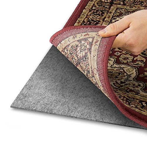 Alpine Neighbor Area Rug Pad with Grip Tight Technology (9x12) | Non Slip Padding Perfect for Hardwood Floors | Thick Felt Cushion for Rugs Nonskid Kitchen Persian Carpet Mat Natural Grey