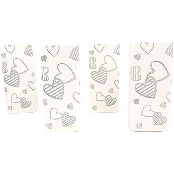colori assortiti h GIRM/® ME74396 Set 3 Pz Evaporatore in ceramica cuore decorato cm.12x12,5x4