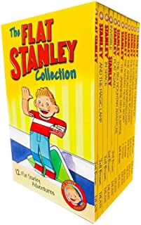 The Flat Stanley Adventures Series Collection 12 Book Box Set by Jeff Brown (Magic Lamp, In Space, Invisible, Flat An, Ama...