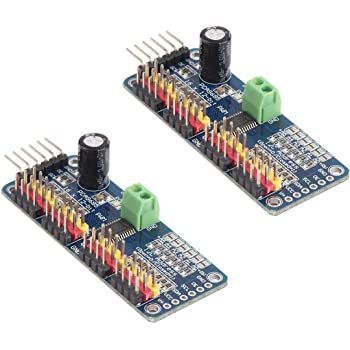 HiLetgo 2pcs PCA9685 16 Channel 12-Bit PWM Servo Motor Driver IIC Module for Arduino Robot