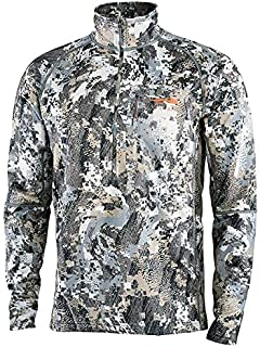 SITKA Men's Heavyweight Zip-T Hunting Standard Fit Shirt