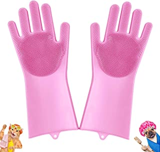 Pet-Grooming-Gloves for Bathing & Hair-Removal, Dog and...